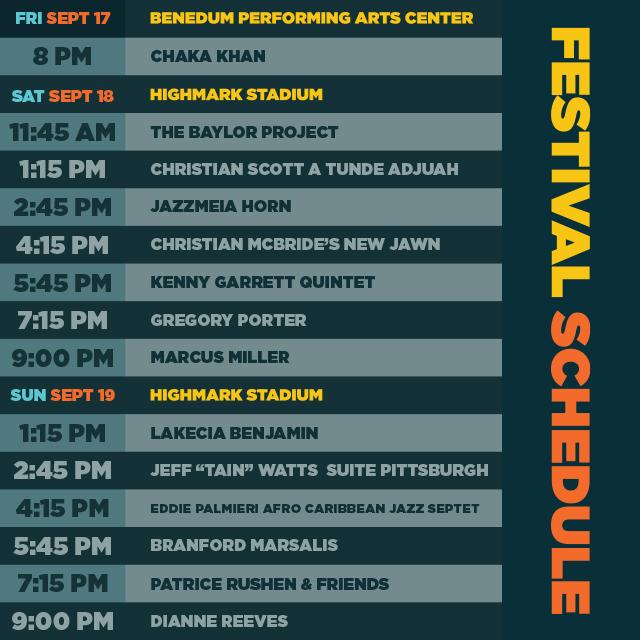 2021 Pittsburgh International Jazz Festival Schedule